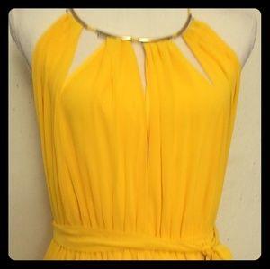 Woven Yellow Dress